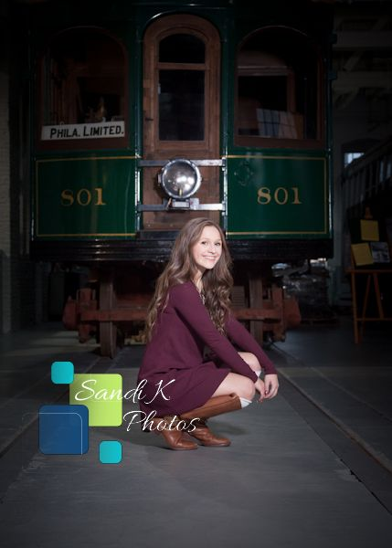 senior pictures, nepa, trolley museum, 570