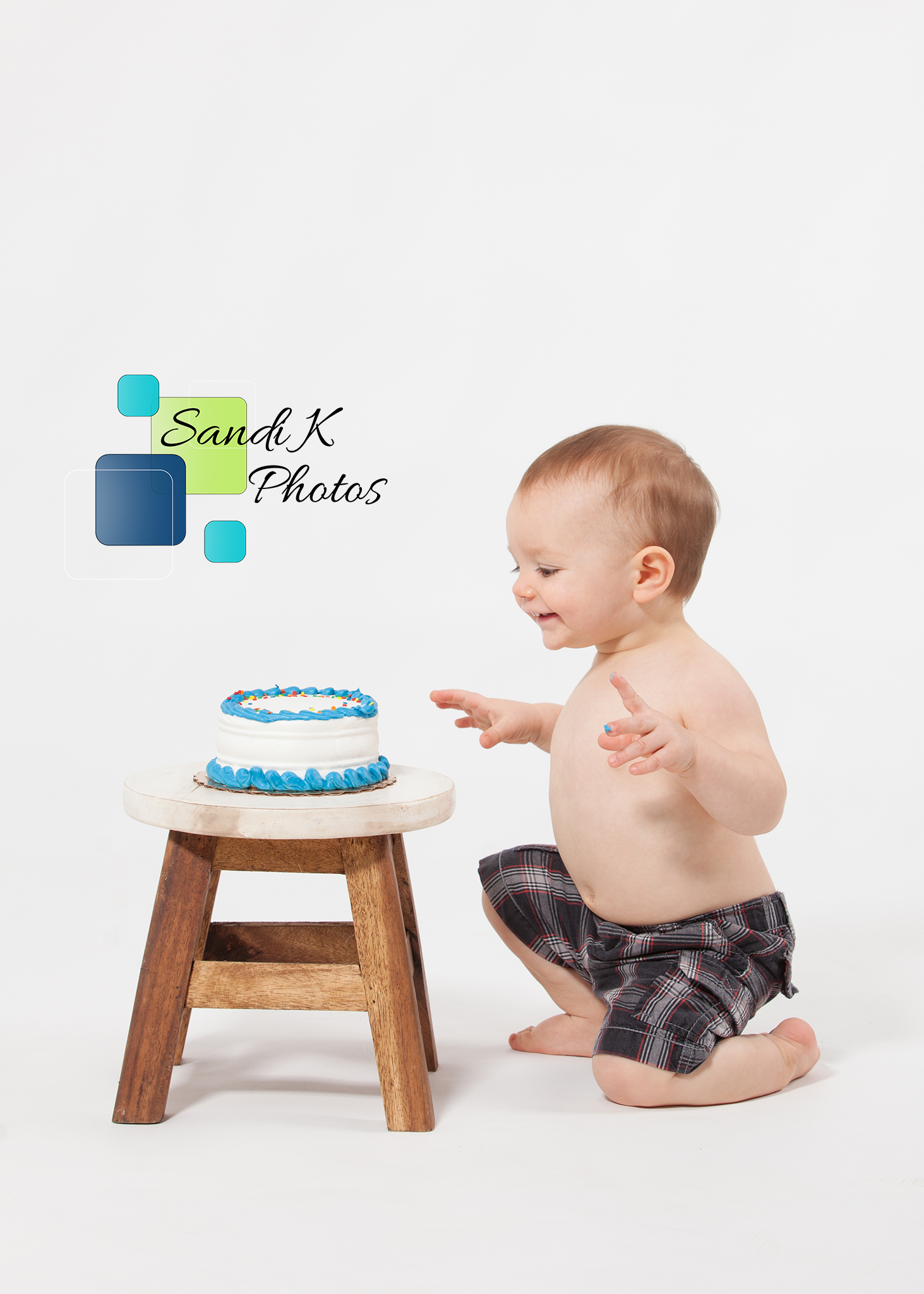 cake smash, sandi k photos, scranton photographer, childrens portraits